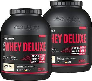 Body Attack Extreme Whey Deluxe, Eiweißpulver mit Aminosäuren, Triple-Whey-Complex, CFM..