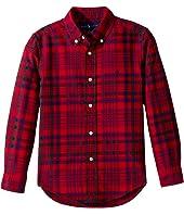 Polo Ralph Lauren Kids - Plaid Cotton Oxford Shirt (Little Kids/Big Kids)