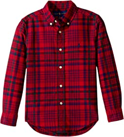 Polo Ralph Lauren Kids - Plaid Cotton Oxford Shirt (Little Kids/Big Kids)