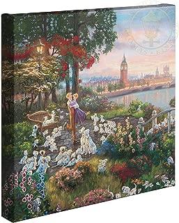 Thomas Kinkade Studios Disney 101 Dalmatians 14 x 14 Gallery Wrapped Canvas