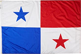 product image for Annin Flagmakers Model 196544 Panama Flag Nylon SolarGuard NYL-Glo, 4x6 ft, 100% Made in USA to Official United Nations Design Specifications