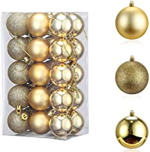 Christmas Decorations,TERSELY 24 Pack 3CM Christmas Balls Ornaments for Xmas Tree - Shatterproof Christmas Tree Decoration...