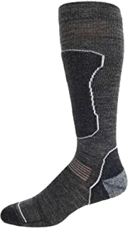 High Falls Footwear Merino Wool Over The Calf Padded Ultra Lite Ski, Snowboard, Winter Sports Socks Made in USA