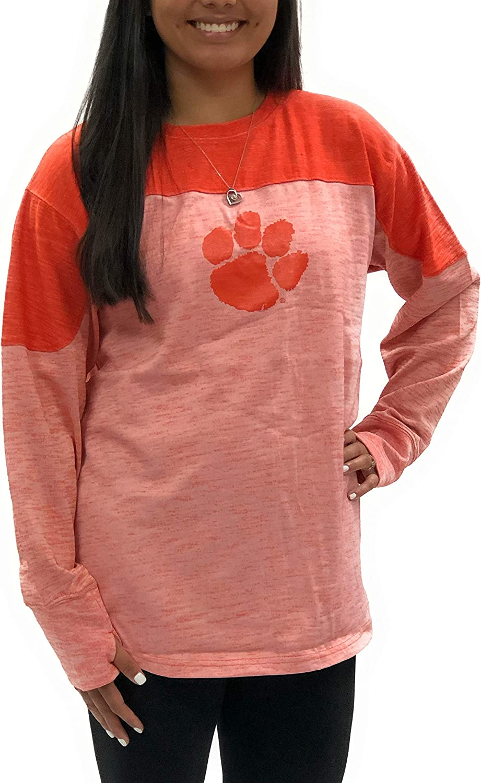 Clemson Detroit Mall Tigers Fieldman Oversized T-Shirt Orange Long Sleeve Surprise price