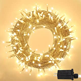 Extra-Long 95FT 240 LED Christmas String Lights Outdoor/Indoor, Ultra-Bright Christmas Tree Lights with 8 Lighting Modes, Plug in Fairy String Lights for Patio Wedding Party Decoration (Warm White)