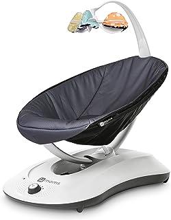 4Moms rockaRoo Columpio compacto para bebé con movimiento deslizante de delante a atrás, gris oscuro