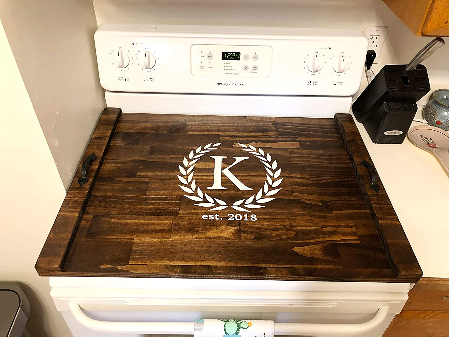 Rustic Stove Cover Wood Inexpensive Tray Top 40% OFF Cheap Sale For Personalized