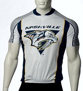 NHL Nashville Predators Cycling Jersey, White, X-Small