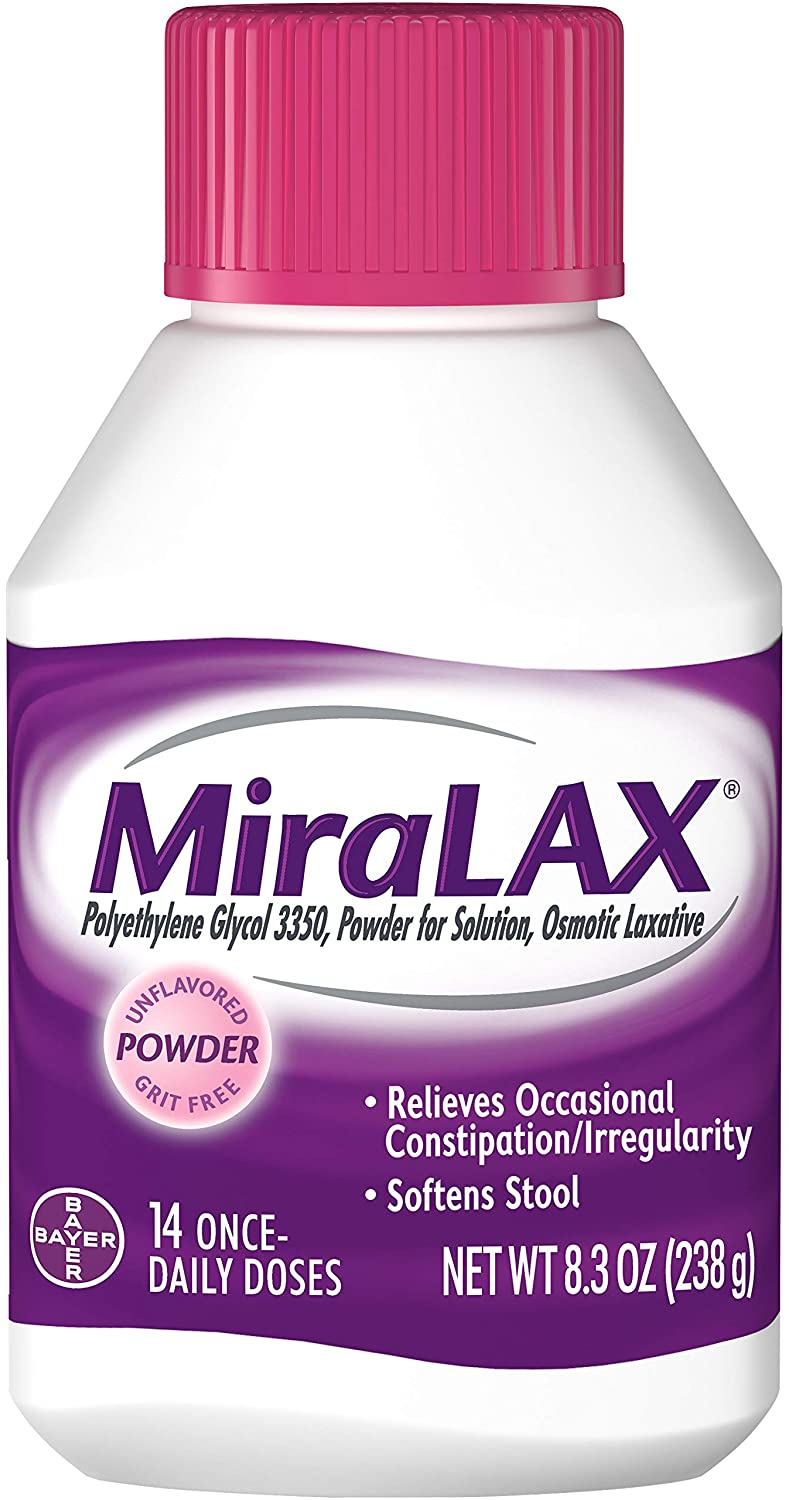 Miralax Powder 14 Doses 8.3 oz NEW before selling of by MiraLAX 3 New color Pack
