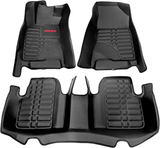 AWEMAT for Honda Civic 2016-2020 Model Digital Measured Exquisite Pattern Custom Fit Car Floor Mats for-Large Coverage -Waterproof-All Weather Protection-Black