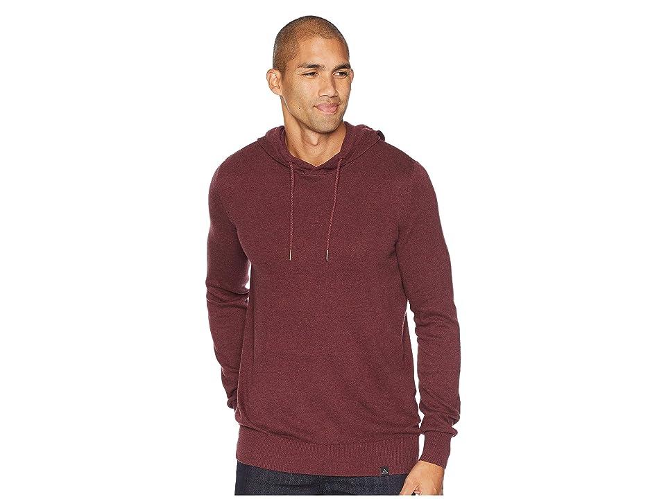 Prana Throw On Hooded Sweater (Black Cherry) Men