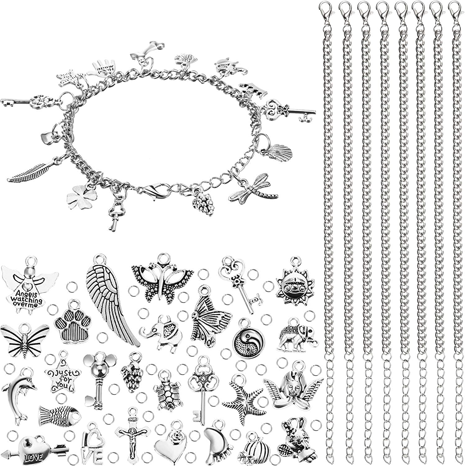 100 Pieces Jewelry Making security Charm Cheap mail order specialty store Stainless Steel 12 Chain