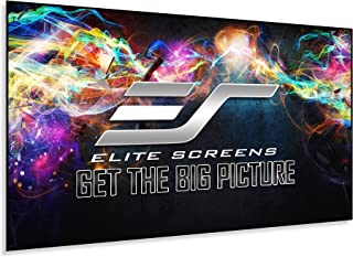 Elite Aeon Series Fixed Frame Edge Free Ultra Thin Velvet Tape Projector Screen, 16:9 Format, 100 inch Size, Cine Grey 3D