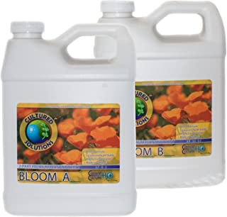 Cultured Solutions Bloom A & B 1 Quart Each, Mineral Salt Based Nutrient Bloom Fruit, Under Current DWC Nutrients, 1qt