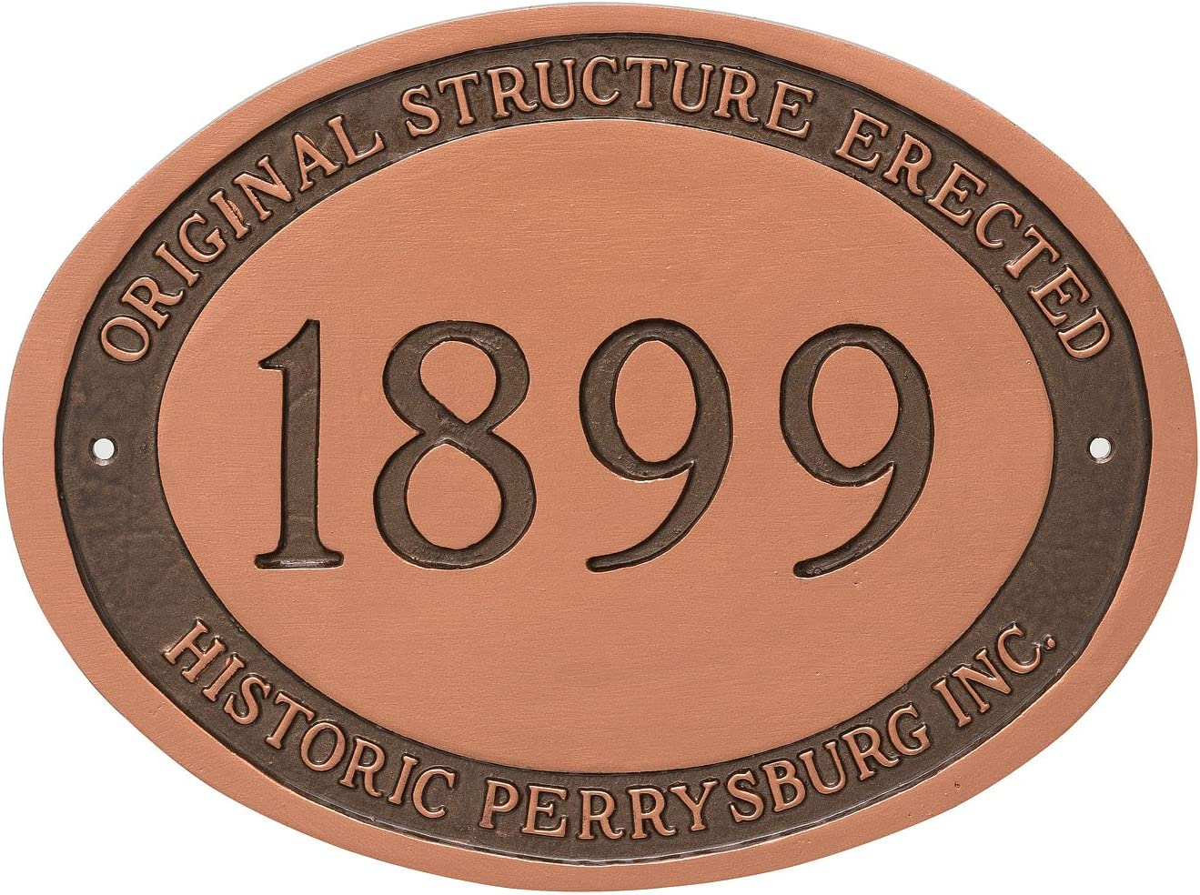 Montague Metal PCS-0101S2-W-TW Today's only Historical wi excellence Plaque Address Sign
