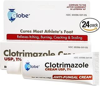 [24 PACK] Clotrimazole 1% Cream 0.5 oz (Compare to Lotrimin) TRAVEL PACKS (24)