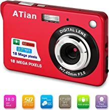 "$39 » ATian 2.7"" LCD HD Digital Camera Amazing Rechargeable Camera 8X Zoom Digital Camera Kids Student Camera Compact Mini Digital Camera Pocket Cameras for Kid/Seniors/Student (Red)"