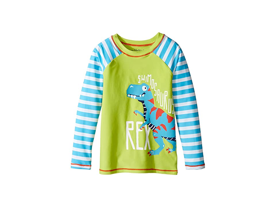 Hatley Kids Roaring T-Rex Rashguard (Toddler/Little Kids/Big Kids) (Green) Boy