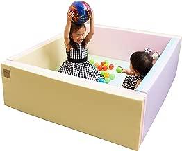 Caraz(カラズ) ベビーサークル マット 床セット 折り畳み式 120×140×40cm パールキャンディ