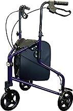 Tuffcare Freedom Lightweight Aluminum Walker for Seniors, Foldable, Rollator Walker with Three Wheels, Height Adjustable H...