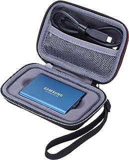 xanadハードケースfor Samsung t3/t5ポータブルSSD 250GB 500GB 1tb 2tb外付けソリッドステートドライブストレージ旅行携帯バッグ