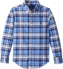 Plaid Performance Poplin Shirt (Little Kids/Big Kids)
