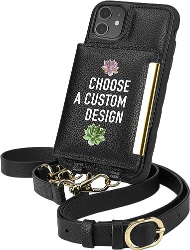 Smartish iPhone 11 Crossbody Case - Dancing Queen [Purse/Clutch with Detachable Strap & Card Holder] - Secret Menu