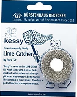 REDECKER Stainless Steel Lime Catcher Kessy, Environmentally Friendly Lime Scale Remover, 1-3/4 inches, Made in Germany