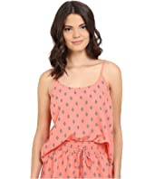 Jack by BB Dakota - Lucinda Split Diamonds Printed Crepe de Chine Top