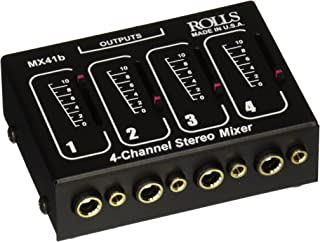 rolls Stereo 4 Channel 1/4 & 1/8 Mixer Pass (MX41B)