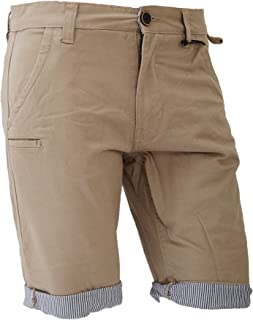 Brave Soul Mens Pinstripe Lined Chino Shorts