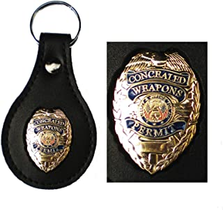 CWP Detective Security with Neck Chain and Belt Clip for Police 2-Pack Badge Holder BADGE NOT INCLUDED Loss Prevention Genuine Leather Badge Holder Sheriff Recessed for Shield Badges CCW