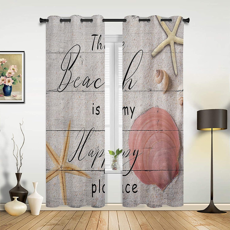 Popular overseas Window Max 67% OFF Sheer Curtains for Bedroom Living Room Summer Beach My is