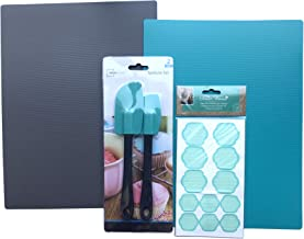 5-Piece Kitchen and Cooking Accessories Bundle - Includes Flexible Chopping Boards, Cooking Spatulas, and BONUS set of 72 Easy Peel Pioneer Woman Kitchen Organization Labels.