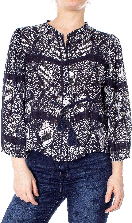 DESIGUAL Women's 19SWCW75blueeE blueee Viscose Shirt