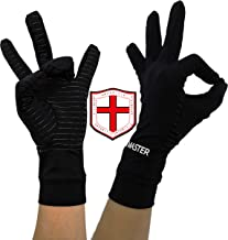 HIGHCAMP Arthritis Gloves for Men & Women- Copper Heal Compression Gloves Everyday Relief & Support for Tendonitis Carpal Tunnel Rheumatoid Osteoarthritis Hand Pain Swollen and More