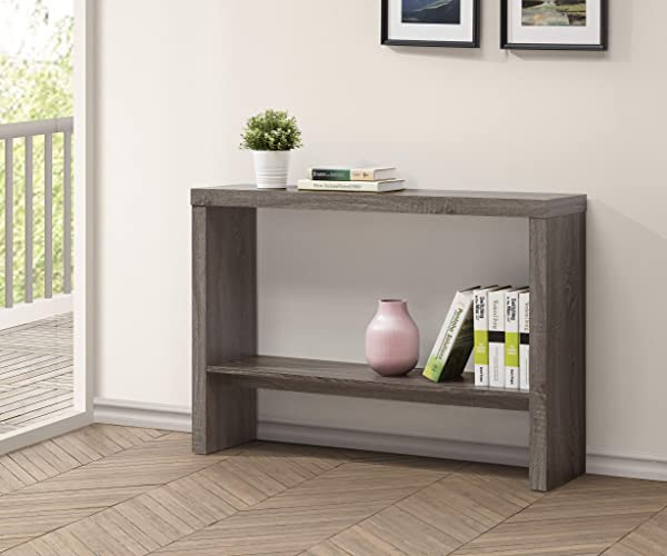 Weathered Grey 2 Tier Entryway Console Sofa Table