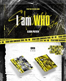 Stray Kids - I am WHO [I AM + WHO ver. Set] (2nd Mini Album) 2 CDs+Photobook+3 QR Photocards+On Pack Poster+1 Official Gro...