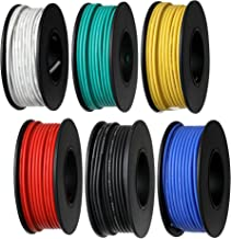 Trobing Hook Up Wire Kit (Stranded Wire Kit) 26 AWG UL3239-6 Colors (32.8ft Each) 7 Gauge Felexible Silicone Rubber Insulated Wire Tinned Copper, 300V Electronic Cable ELectrical Wire