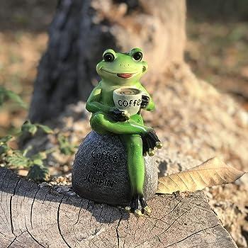 NICEXMAS Adornos de Jard/ín de Hadas en Miniatura Animales de Rana de Hierro Estatua para Casa de Mu/ñecas Paisaje Maceta Decoraci/ón del Hogar Regalo Estatuilla Coleccionable Bonsai