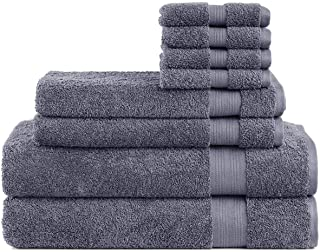 Cotton Cozy Indulgence 600 GSM Luxury 8-Piece Towel Set: 2 Bath Towels , 2 Hand Towels and 4 Washcloths, 100% Cotton, Amer...
