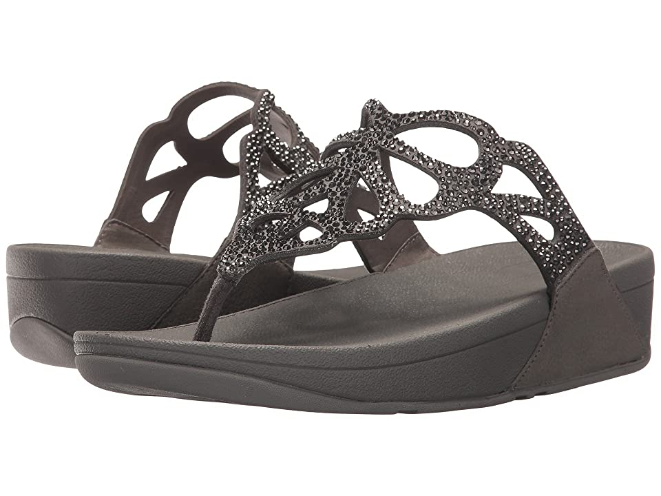 FitFlop Bumble Crystal Toe Post (Pewter) Women