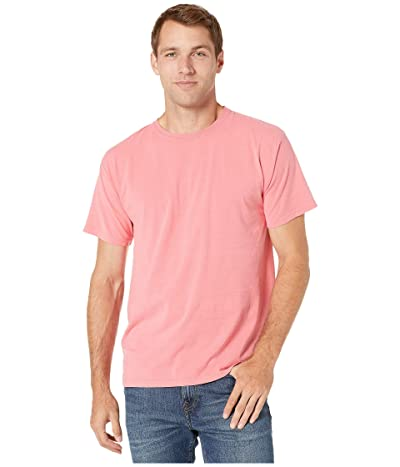 Hanes ComfortWashtm Garment Dyed Short Sleeve T-Shirt (Coral Craze) Clothing