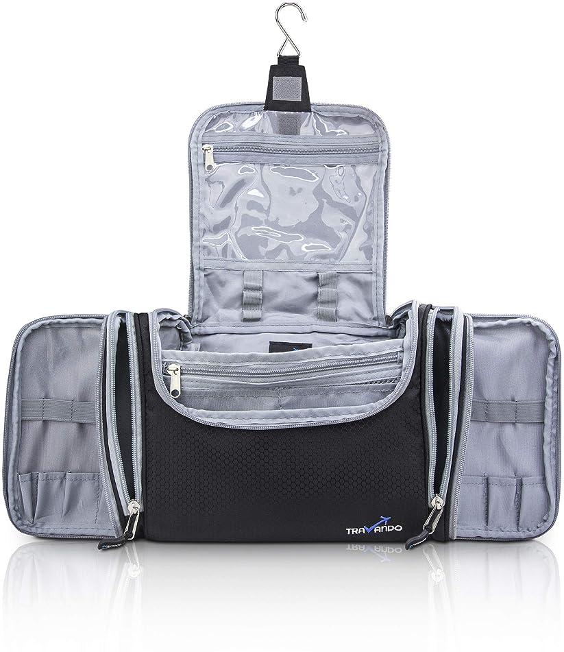 "TRAVANDO XXL 女士化妆包""MAXI""带悬挂挂钩 - 大洗袋 - 多个口袋 - 旅行套装,旅行化妆品大马桶收纳箱行李箱"