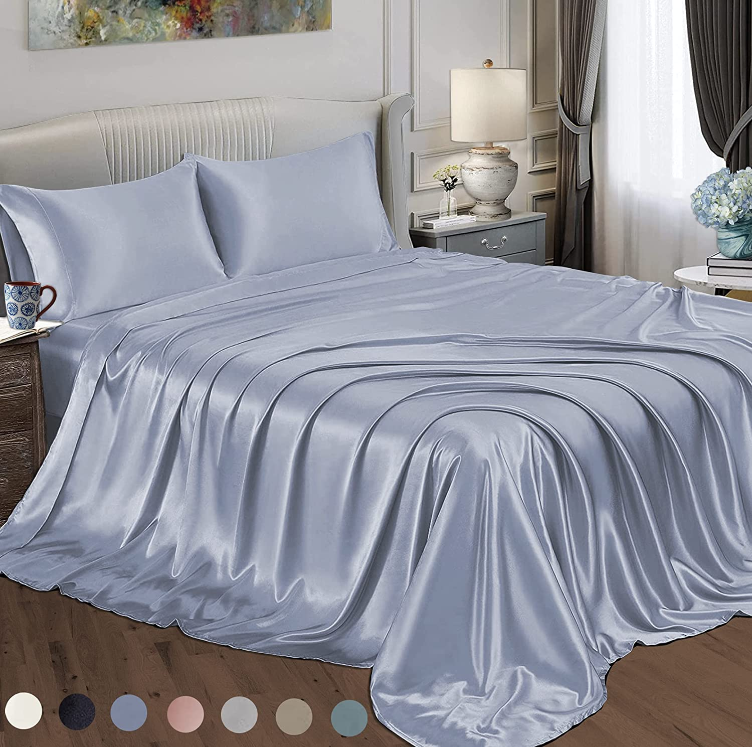 Satin Radiance Limited Special Price 202 3SS Max 72% OFF Luxury Sheet Dee Set with Charmeuse