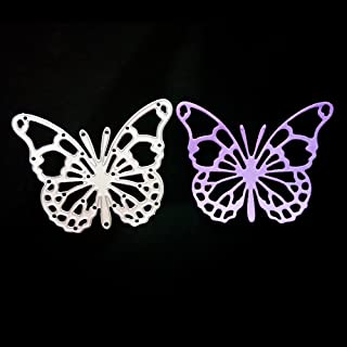 Butterfly Metal Cutting Dies for Card Making, NOMSOCR Cut Die Metal Stencil Template Mould for DIY Scrapbook Embossing Album Paper Card Craft Birthday Festival Decoration (Butterfly 2)