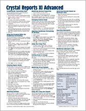 Crystal Reports XI Quick Reference Guide: Advanced (Cheat Sheet of Instructions, Tips & Shortcuts - Laminated Card)