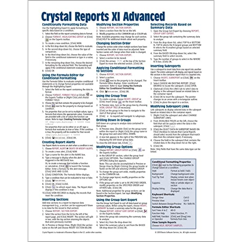 crystal reports reference guide