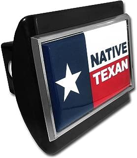 Elektroplate Native Texan Flag Black Metal Hitch Cover