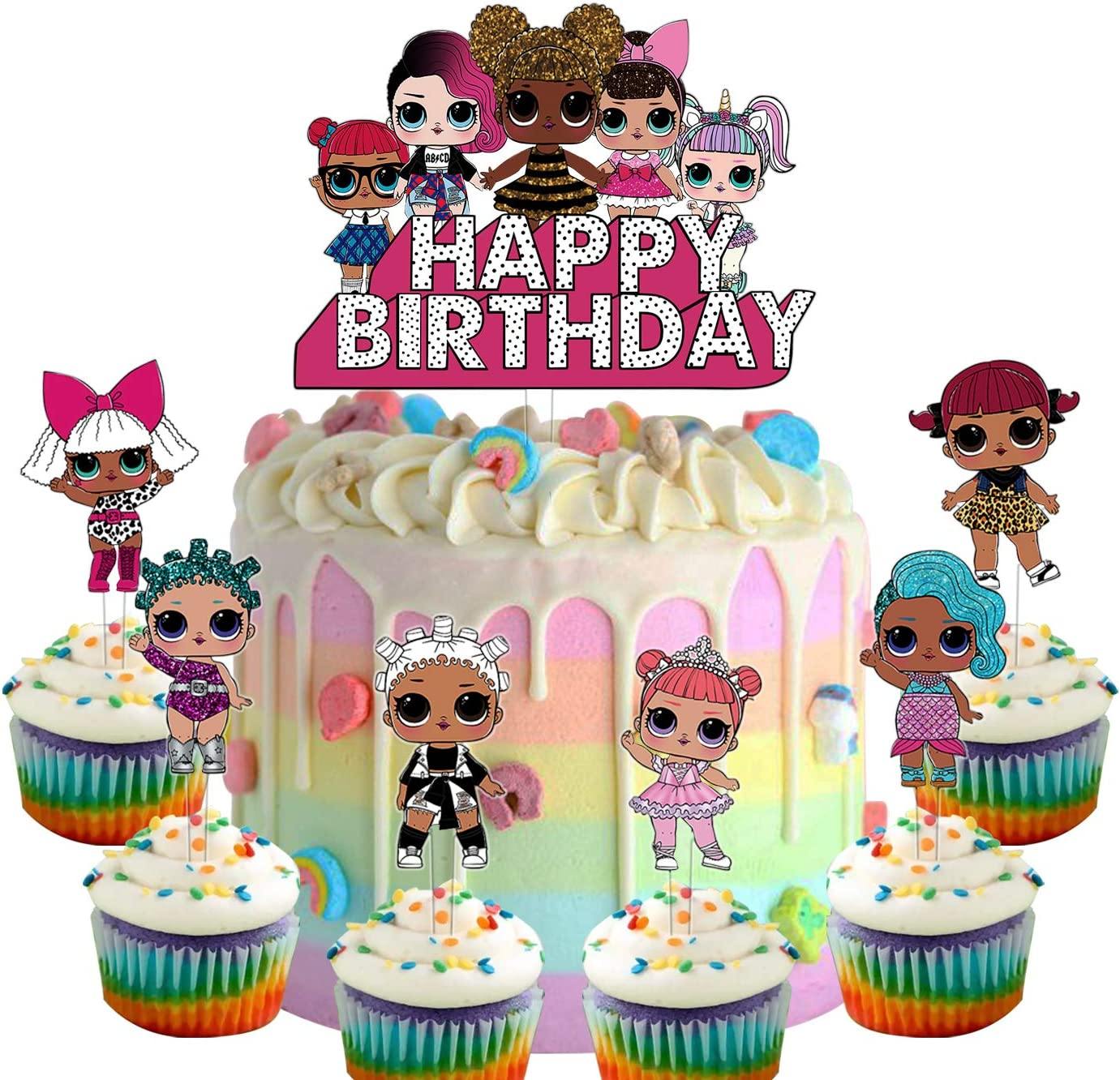 Set of Acrylic LOL Happy Cake S Topper online shopping New arrival Birthday